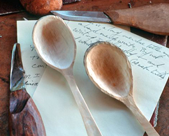 Photograph of spoons on a letter